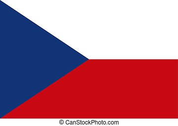 Czech flag, flat layout, vector illustration