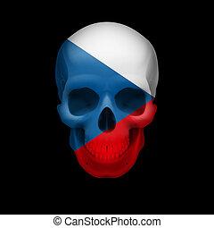 Czech flag skull