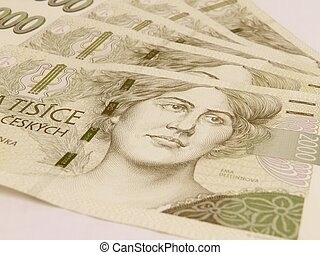 Czech korunas CZK (legal tender of the Czech Republic)...
