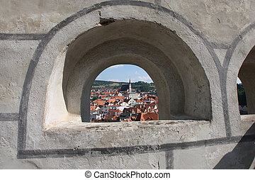 Czech Krumlov town in the Czech Republic