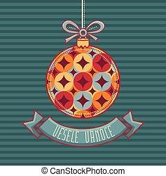 Czech language. Vesele Vanoce. Christmas message. - Vesele...