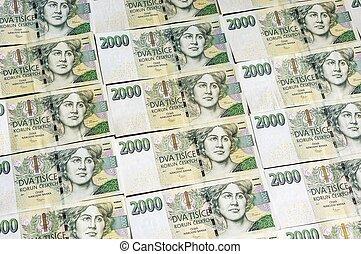 Czech money array in pattern