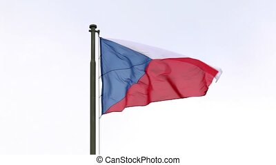Czech National Flag - Czech republic flag waving against...