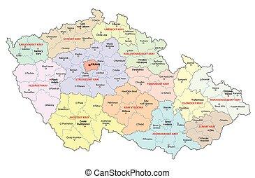 czech republic administrative map - czech republic...