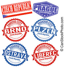 Czech Republic cities stamps set