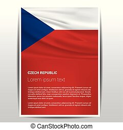 Czech Republic flag design vector