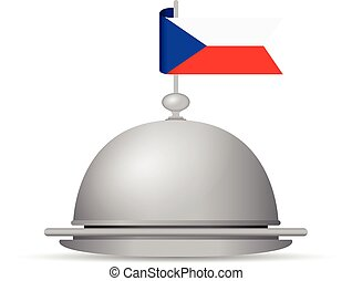 czech republic flag dinner platter