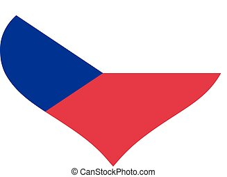 Czech Republic flag heart