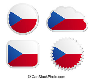 Czech Republic flag labels