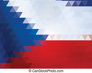 Czech Republic flag of vector