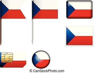 Czech Republic flag set on a white background.