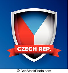 Czech republic flag shield