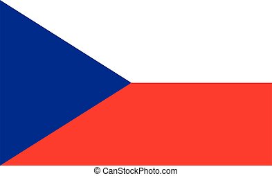 Czech Republic flag. Simple vector Czech Republic flag