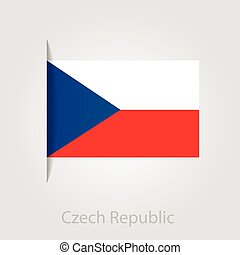 Czech Republic flag, vector illustration