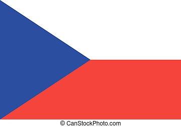Czech-republic Flag vector illustration. Czech-republic Flag. National Flag of Czech-republic.