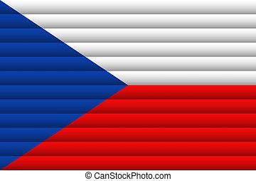 Czech Republic Flag. Vector Illustration.