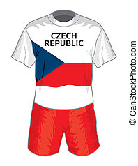Czech republic football uniform
