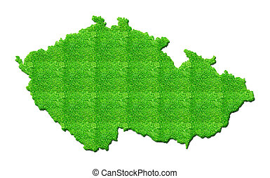 Czech-republic Map 3D illustration isolated background