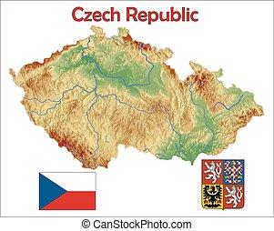 Czech Republic map flag coat