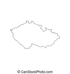Czech Republic map outline
