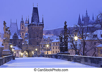 Czech Republic, Pague, Charles Bridge - Czech Republic -...