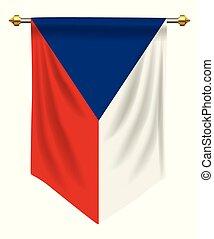 Czech Republic Pennant - Czech Republic flag or pennant...