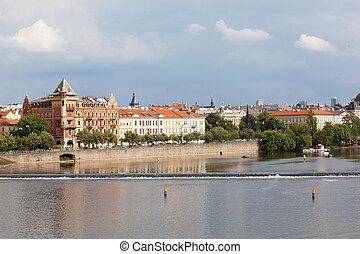 Czech republic, Prague, look on Gradchana and the Vltava River