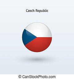 Czech Republic round flag. Vector illustration.