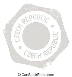 Czech Republic stamp. Grunge design with dust scratches....