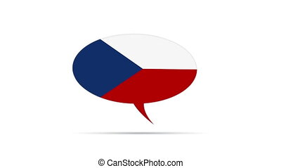Czech Republic - Spinning Czech Republic Flag Speech Bubble