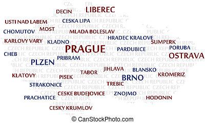 CZECH REPUBLIC Word Cloud Map - CZECH REPUBLIC map made from...