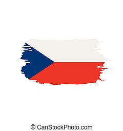 Czechia flag, vector illustration on a white background
