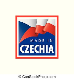 Czechia national flag, vector illustration on a white background