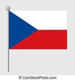Czechia flag vector template background realistic copy