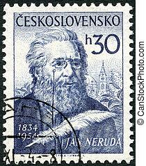 CZECHOSLOVAKIA - 1954: shows Jan Neruda (1834-1891) - ...
