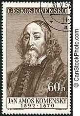 CZECHOSLOVAKIA - 1957: shows Jan Amos Komensky (1592-1670), ...