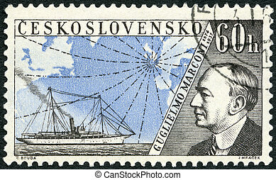 CZECHOSLOVAKIA - CIRCA 1959: A stamp printed in ...