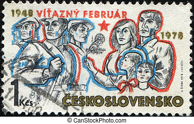 CZECHOSLOVAKIA - CIRCA 1978: A stamp printed in ...