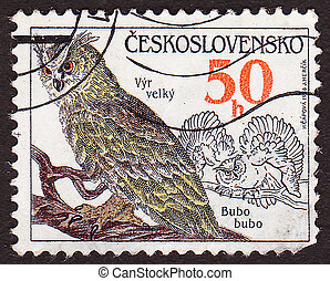 CZECHOSLOVAKIA - CIRCA 1986: A stamp printed in...