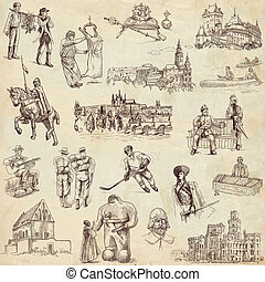 Czecoslovakia travel - An hand drawn pack - Travel series:...