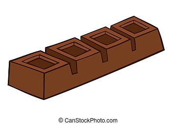 czekolada, bar.