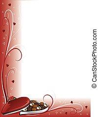 czekolada, brzeg, valentine