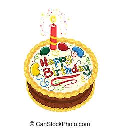 czekolada, szczęśliwe urodziny, ciastko