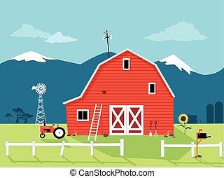 czerwona stodoła
