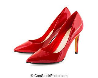 czerwone obuwie