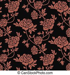 czerwone róże, na, czarnoskóry