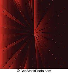 czerwone tło, promień