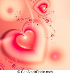 czerwone tło, serca