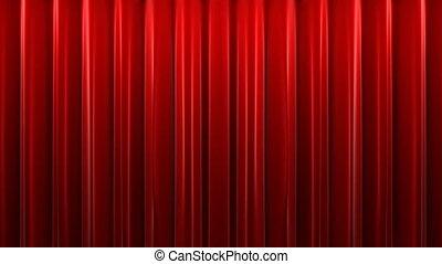 czerwony, aksamit, teatr, kurtyna