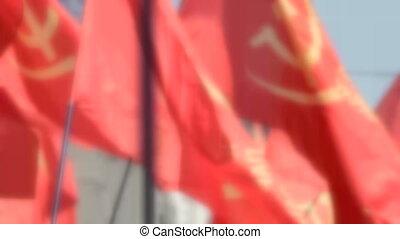 czerwony, bandery